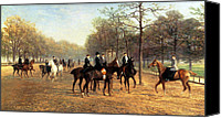 Talking Canvas Prints - The Morning Ride Rotten Row Hyde Park Canvas Print by Heywood Hardy