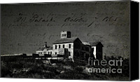 Cortijo Canvas Prints - The Most Haunted House in Spain. Casa Encantada. Welcome to the Hell Canvas Print by Jenny Rainbow