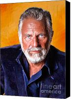 Beer Canvas Prints - The Most Interesting Man in the World II Canvas Print by Debora Cardaci