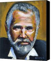 Portrait Canvas Prints - The Most Interesting Man In The World Canvas Print by Buffalo Bonker