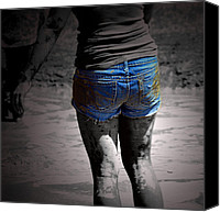 Blue Jeans Canvas Prints - The Muddy Blues  Canvas Print by Steven  Digman