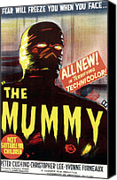 1950s Poster Art Canvas Prints - The Mummy, Austrailian One Sheet Canvas Print by Everett