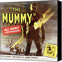1959 Movies Canvas Prints - The Mummy, Christopher Lee, 1959 Canvas Print by Everett