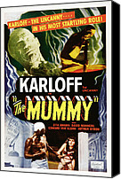 Horror Fantasy Movies Photo Canvas Prints - The Mummy, Top Left Boris Karloff Top Canvas Print by Everett