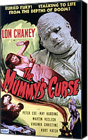 Horror Fantasy Movies Canvas Prints - The Mummys Curse, Virginia Christine Canvas Print by Everett