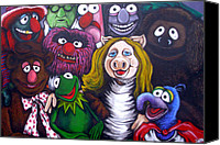 Muppets Drawings Canvas Prints - The Muppets Tribute Canvas Print by Sam Hane