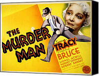 1935 Movies Canvas Prints - The Murder Man, Spencer Tracy, Virginia Canvas Print by Everett