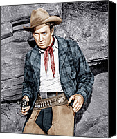 1950s Movies Canvas Prints - The Naked Spur, James Stewart, 1953 Canvas Print by Everett