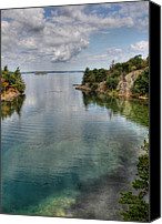 St Lawrence River Canvas Prints - The Narrows Canvas Print by Lori Deiter