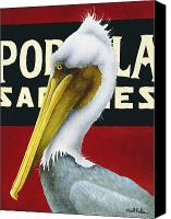 Pelicans Canvas Prints - The Native... Canvas Print by Will Bullas