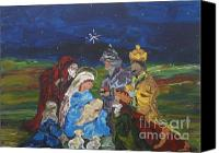Holidays Canvas Prints - The Nativity Canvas Print by Reina Resto