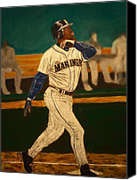 Baseball Pastels Canvas Prints - The Natural Canvas Print by D Rogale