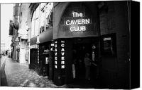 Cavern Canvas Prints - The New Cavern Club In Mathew Street In Liverpool City Centre Birthplace Of The Beatles Merseyside Canvas Print by Joe Fox