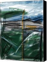 Stormy Mixed Media Canvas Prints - The New Land Canvas Print by Russell Pierce