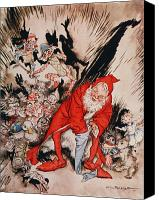 Santa Claus Drawings Canvas Prints - The Night Before Christmas Canvas Print by Arthur Rackham