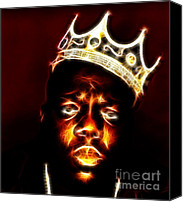 Hip-hop Canvas Prints - The Notorious B.I.G. - Biggie Smalls Canvas Print by Paul Ward