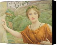 Toga Canvas Prints - The Nymph Canvas Print by Thomas Cooper Gotch
