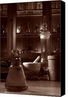 Equipment Canvas Prints - The Old Apothecary Shop Canvas Print by Olivier Le Queinec