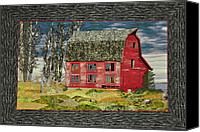 Barn Tapestries - Textiles Canvas Prints - The Old Barn Canvas Print by Jo Baner