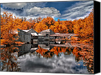 Pond Canvas Prints - The Old Boat House Canvas Print by Bob Orsillo