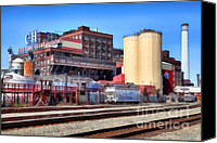 Old Town Digital Art Canvas Prints - The Old C and H Pure Cane Sugar Plant in Crockett California . 5D16770 Canvas Print by Wingsdomain Art and Photography