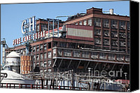 Factories Canvas Prints - The Old California and Hawaii Sugar Company in Crockett California . C and H . 5D16769 Canvas Print by Wingsdomain Art and Photography