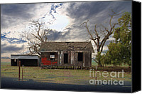 Haunted House Canvas Prints - The Old Farm House In My Dreams Canvas Print by Wingsdomain Art and Photography