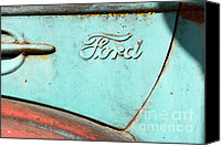 Old American Truck Canvas Prints - The Old Ford Jalopy . Nostalgia In Abstract . 7D12892 Canvas Print by Wingsdomain Art and Photography