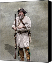American Revolution Canvas Prints - The Old Frontiersman   Canvas Print by Randy Steele