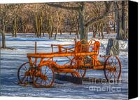 Machine Canvas Prints - The old grader Canvas Print by Robert Pearson