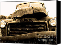 Old American Truck Canvas Prints - The Old Jalopy . 7D8396 Canvas Print by Wingsdomain Art and Photography