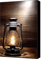 Oil Lamp Canvas Prints - The Old Lamp Canvas Print by Olivier Le Queinec
