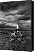 Abandoned  Digital Art Canvas Prints - The Old Lighthouse  Canvas Print by Adrian Evans