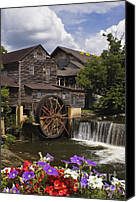 Old Mill Pigeon Forge Canvas Prints - The Old Mill - D000662 Canvas Print by Daniel Dempster