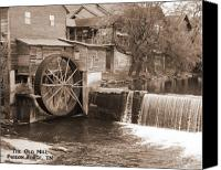Old Mill Pigeon Forge Canvas Prints - The Old Mill Canvas Print by Andre  Persun