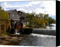 Old Mill Pigeon Forge Canvas Prints - The Old Mill Canvas Print by Brittany H