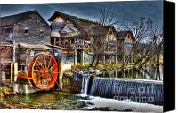 Old Mill Pigeon Forge Canvas Prints - The Old Mill Canvas Print by Jason Abston