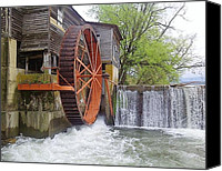 Old Mill Pigeon Forge Canvas Prints - The Old Mill Canvas Print by Kathy Schutt