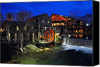 Old Mill Pigeon Forge Canvas Prints - The Old Mill Canvas Print by Michael Austin