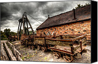 Ruin Digital Art Canvas Prints - The Old Mine Canvas Print by Adrian Evans