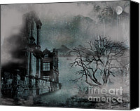 Creepy Canvas Prints - The Old Ruins Canvas Print by Cheryl Young