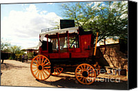Historic Canvas Prints - The Old Stage Coach Canvas Print by Susanne Van Hulst