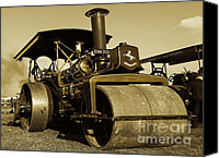 Blandford Canvas Prints - The old steam roller Canvas Print by Rob Hawkins