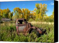 Old Trucks Canvas Prints - The old truck  Chama New Mexico Canvas Print by Kurt Van Wagner