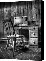 Television Canvas Prints - the old TV Canvas Print by Scott Norris