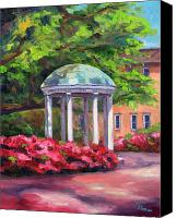 Spring Painting Canvas Prints - The Old Well UNC Canvas Print by Jeff Pittman