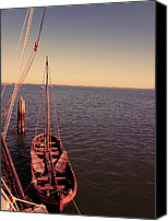 Wooden Boat Canvas Prints - The Old Wooden Boat Canvas Print by Lourry Legarde