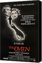 Horror Fantasy Movies Canvas Prints - The Omen, From Left, Gregory Peck, Lee Canvas Print by Everett