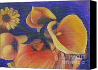 Canna Lilies Canvas Prints - The Only One Canvas Print by Terri Thompson