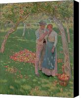 Engagement Painting Canvas Prints - The Orchard Canvas Print by Nelly Erichsen